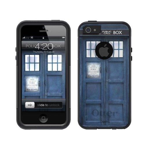 Great Price Otterbox Commuter Series ® Black iPhone 5 Case Tardis Dr. Who