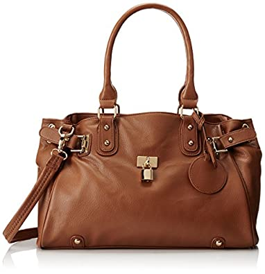 MG Collection Lucca Glamour Shopper Hobo, Brown, One Size