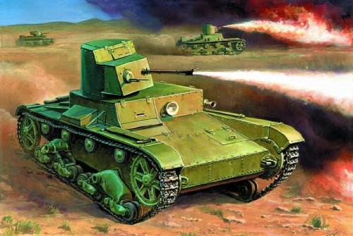 Zvezda 6165 T-26 Flamthrower Tank 1:100 Kit