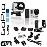 GoPro HERO3 12MP Full HD 1080p 30 fps Built-In Wi-Fi Waterproof Wearable Camera Silver Edition