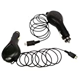Importer520 (TM) Premium 1000mAh Micro USB Retractable Car Charger for Motorola HX550 BlueTooth Headset