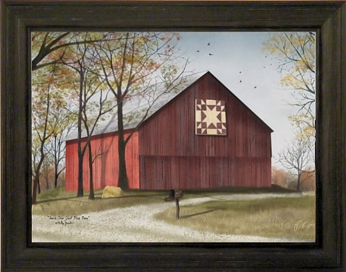 Red Barn Wall Decor : Amish star quilt block barn by billy jacobs ? red