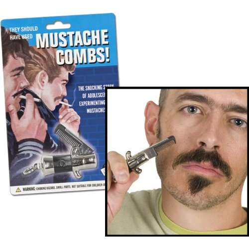 Accoutrements Switchblade Mustache Comb - 1