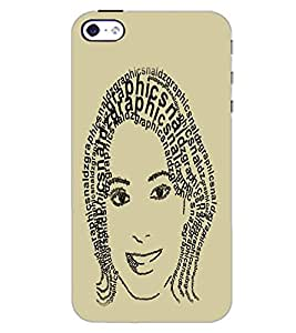 APPLE IPHONE 4S GIRL FACE Back Cover by PRINTSWAG