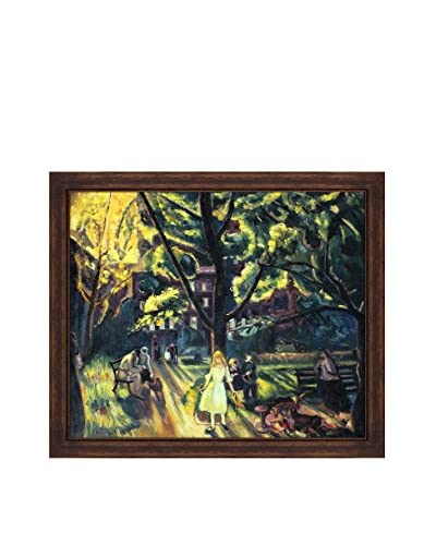 "George Wesley Bellows ""Gramercy Park, 1920"" Framed Hand-Painted Oil Reproduction"