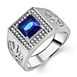 Om Jewells Sterling Silver Perfecto ring with CZ stones for Men FR7000552_22