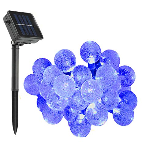 keeda-solar-globe-fairy-lights-30-led-crystal-ball-patio-string-light-for-outdoor-garden-blue