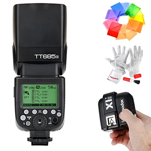 Godox-TT685S-HSS-18000S-GN60-TTL-Flash-Speedlite-with-X1T-S-24G-TTL-Wireless-Flash-Trigger-Flash-Diffuser-Softbox-and-Flash-Color-Filters-for-Sony-DSLR-Cameras-with-MI-Shoe