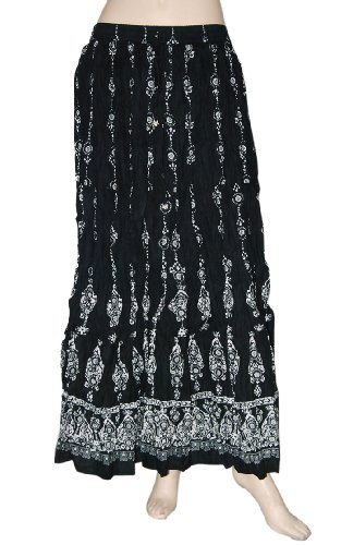 Beautiful Boho Block Print Gypsy Hippie Cotton Long Skirt