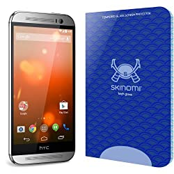 Skinomi Tech Glass - HTC One M8 Glass Screen Protector / Ultra Thin (.33mm Thickness) Premium Tempered Glass - Crystal Clear 9H Hardness with Oleophobic Coating - 99% Clarity and Touchscreen Accuracy