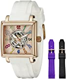 Stuhrling Original Women's 341.134614 Leisure Uptown Ozzie Skeleton Watch with Interchangeable Bands