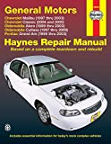 General Motors: Chevrolet Malibu (1997 thru 2003) Chevrolet Classic (2004 and 2005) Oldsmobile Alero (1999 thru 2003) Oldsmobile Cutlass (1997-2000) Pontiac Grand Am (1999 thru 2003)