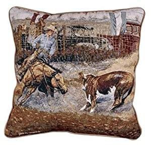 Decorative Western Throw Pillows : Amazon.com - Western Rodeo Cowboy & Horse Decorative Throw Pillow 17