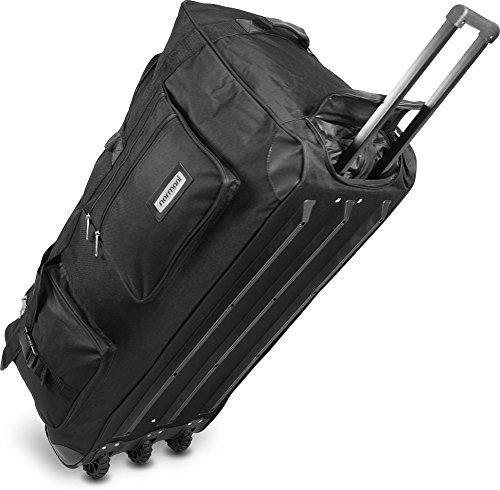 Viaggio e di borsa sportiva con funzione trolley di normani®, Schwarz / 150 Liter, XXL