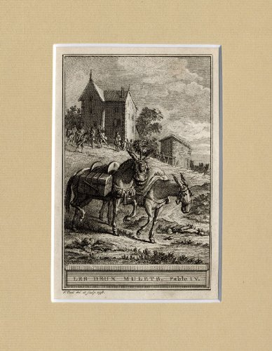 AntiquePrint-FABLE-HINNY-ANIMALS-Lafontaine-1758