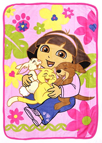 Dora The Explorer Dora Coral Plush Toddler Blanket, The Explorer Pets