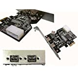 PCIE to FIREWIRE 800 IEEE1394b CONTROLLER CARD - PCI EXPRESS 1x - CHIPSET : TEXAS INSTRUMENTSby ADAPTER WORLD