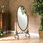 Metal Cheval Floor Mirror - Oval