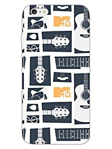 MTV Gone Case - Keep Calm And Play Guitar - White - Hard Back Case Cover for Apple iPhone 6 Plus - Superior Matte Finish - HD Printed Cases and Covers