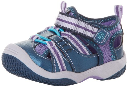 Stride Rite Petra Fisherman Sandal (Infant/Toddler),Navy/Purple,6.5 M Us Toddler
