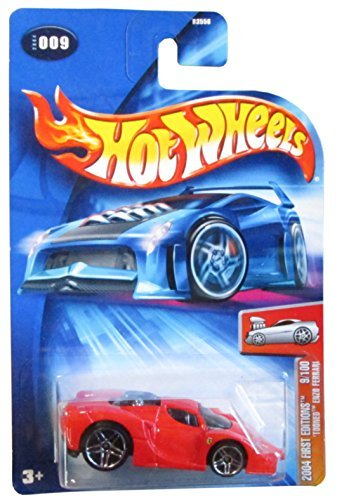 Hot Wheels 'Tooned Enzo Ferrari First Edition 2004 #009 #9 RED FE 9/100 1:64 Scale - 1