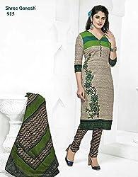 Nidhifabrics Women's Cotton Dress Material (SGP915_Beige)