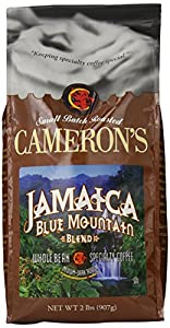 Cameron's Whole Bean Coffee, Jamaica Blue Mountain Blend, 32 Ounce