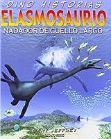 Elasmosaurio nadador de cuello largo