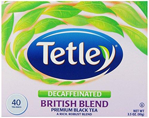 Tetley British Blend Naturally Decaffeinated Premium Black Tea, 40-Count Tea Bags (Pack of 6) (British Beverages compare prices)