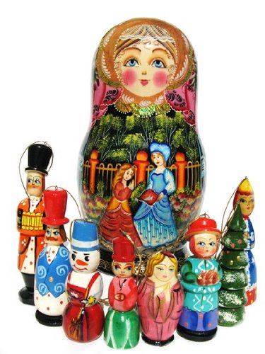 "GreatRussianGifts Fairy Tale Ornament Set - 9""H"