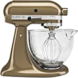 KitchenAid KSM155GBTF Artisan Design Series with Glass Bowl, 5 quart, Toffee
