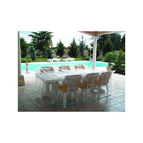 Schutzhülle Abdeckung für Tisch und Stühle transparent L:ca.215cm, H: ca.90cm B: ca. 173cm günstig bestellen