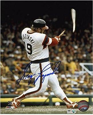 """Greg Luzinski Chicago White Sox Autographed 8"""" x 10"""" Broken Bat Photograph - Fanatics Authentic Certified"""