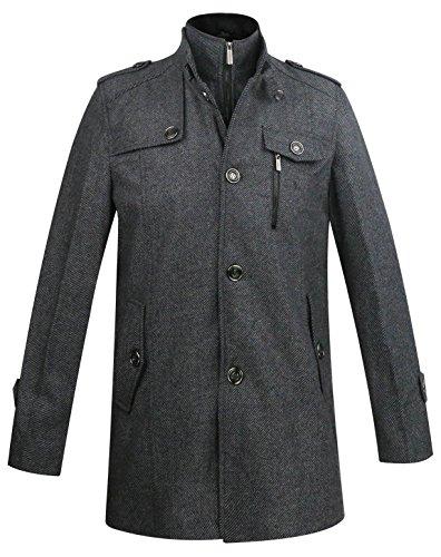 aptro herren wolle stehkragen business mantel wintermantel 1108 dick grau gr de s tag m. Black Bedroom Furniture Sets. Home Design Ideas