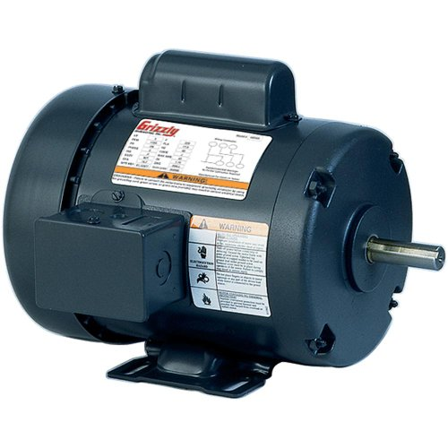 Grizzly h5383 2 hp single phase motor 110v 220v for 2 hp electric motor single phase