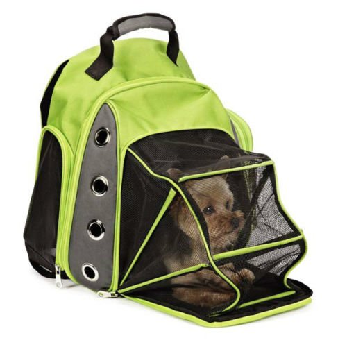 Besthomeorganizer Comfortable Casual Canine Ultimate Backpack Carrier, Pet Dog Cat Carrier Tote, 2 Colors (Green)