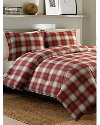 Eddie Bauer Navigation Plaid Comforter Set  [Red]