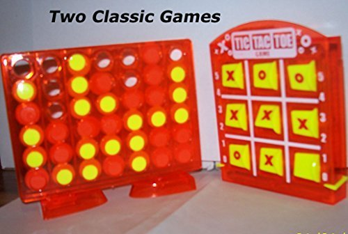 Tic Tac Toe and 4 in a Row Games. Stocking Stuffer Two Pack.