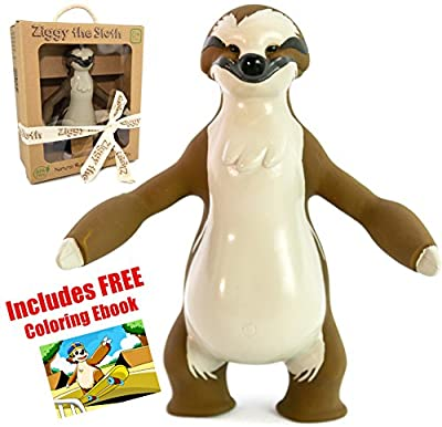 Flash Sale! Ziggy the Sloth Baby Natural Teether Toy by Pijio with Free Downloadable Coloring Book- Best Amazon Baby Registry Gift - Developmental Teething Chew Toy by Pijio that we recomend individually.