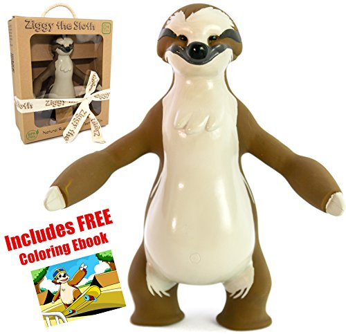 Insane-Sale-Ziggy-the-Sloth-Baby-Natural-Teether-Toy-by-Pijio-with-Free-Downloadable-Coloring-Book-Best-Amazon-Baby-Registry-Gift-Developmental-Teething-Chew-Toy