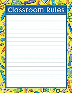 Teacher Created Resources Tools for School Classroom Rules Chart, Multi Color (7681)