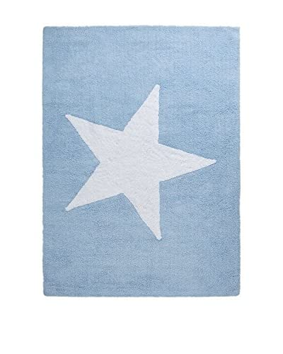 Happy Decor Kids Teppich Star blau/weiß