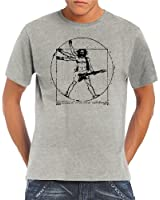 Touchlines Herren T-Shirt Da Vinci Rock Guitar