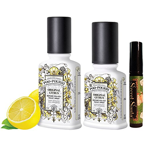 Poo-Pourri Christmas Gift Set,Includes Poo-Pourri Before-You-Go Toilet Spray 2-Ounce Bottle,Original Scent,+ 4-Ounce Bottle Original Scent + Bonus 4ml Secret Santa Travel Size Tester