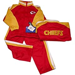 Kansas City Chiefs NFL Kids Child Embroidered Jogging Suit Set (Size 5-6) By Reebok by Reebok