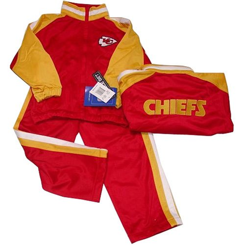 Kansas City Chiefs Nfl Kids/Child Embroidered Jogging Suit Set (Size 5-6) By Reebok front-914749