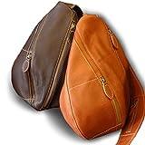 ボディバッグ ショルダーバッグ 本革 レザー ボディーバッグ ワンショルダー メンズ オイルレザー bag-body011 (ブラウン)