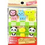 PakupakuLunch Maruki Cute 6 Animals Food Picks For Bento Box Lunch Box (6pc Set)