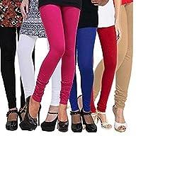 Viscose Pack of 6 Leggings Combo