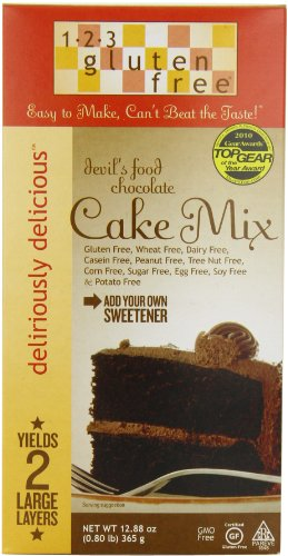 123 Gluten Free Cake Mix, Chocolate Devils Food, 12.88-Ounce Boxes (Pack of 3)